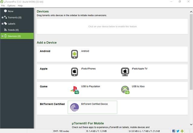 تحميل برنامج µTorrentPro 3.5.3 build 44396 نسخة كاملة مجانا