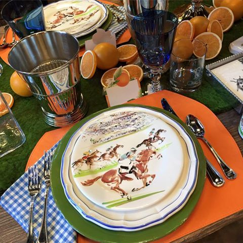 You can pick from a number of styles of plates from Gien readily available on the Internet. Pick your discipline. & Horse Country Chic: Equestrian Tablescapes