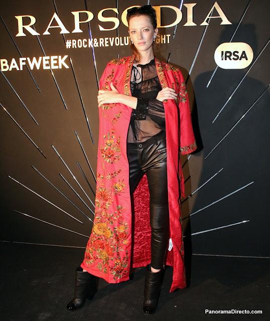 Milagros Schmoll en la presentación de colección Autumn/Winter ´18 de Rapsodia en el BAFWEEK