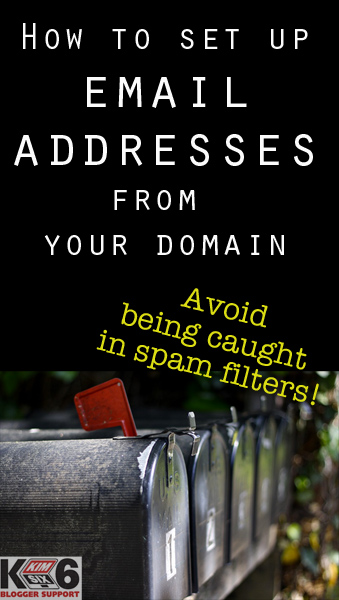 How to set up an email address for your custom domain in order to make sure your newsletter doesn't get caught up in the DMARC spam filters