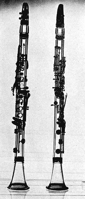 1946 plexiglass clarinets photograph