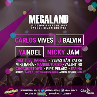 Cartel MEGALAND 2017