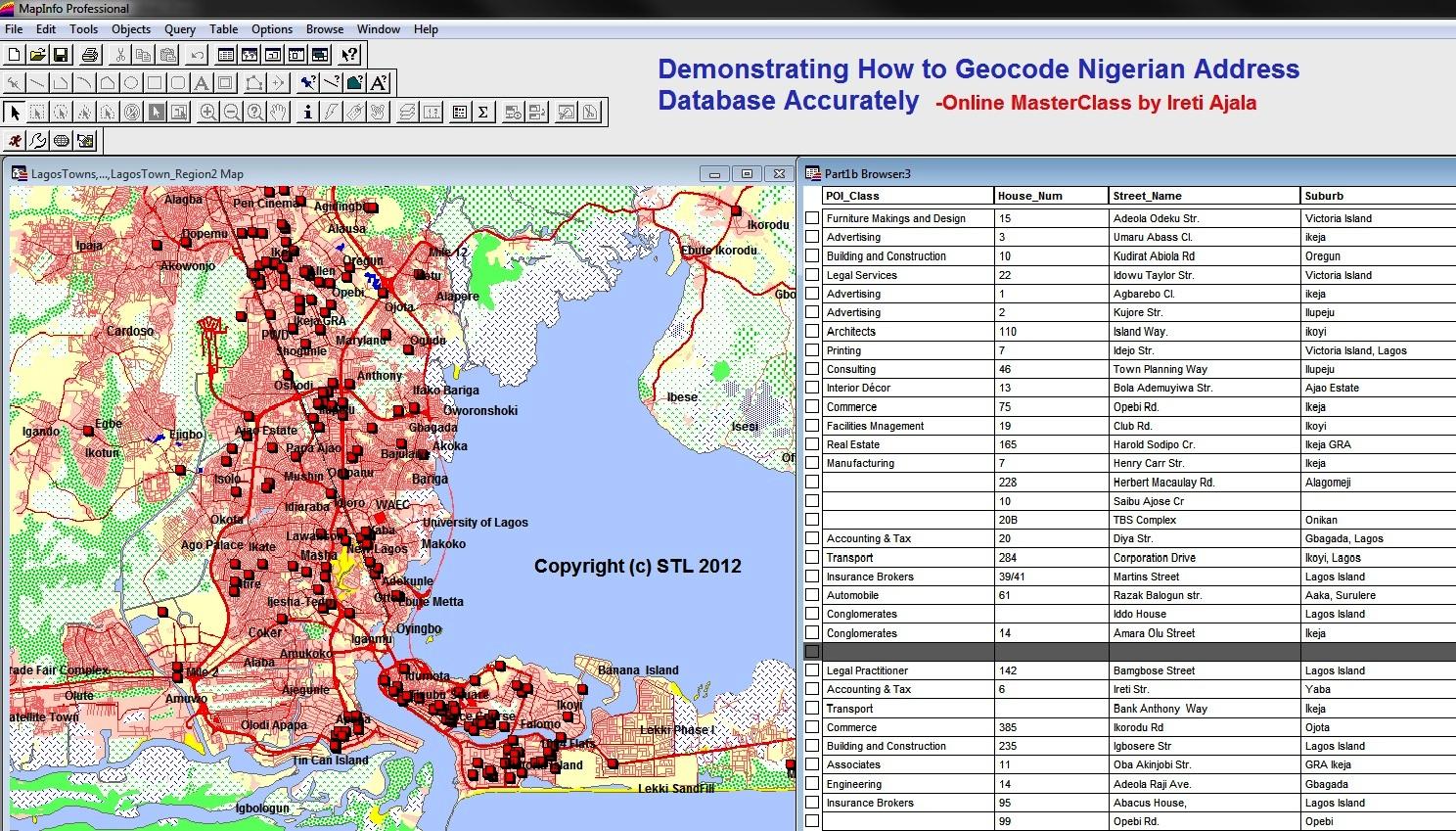 free geocoded database