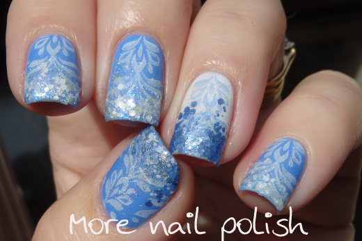 Picture Polish Swagger - stamped and glitter tip ~ More Nail