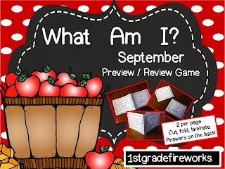 What Am I? September assessment game