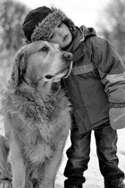 A boy and his dog! Artists dream of doing pet portraits like this. It has the ability to tell a story that should not be hid away in a photo album