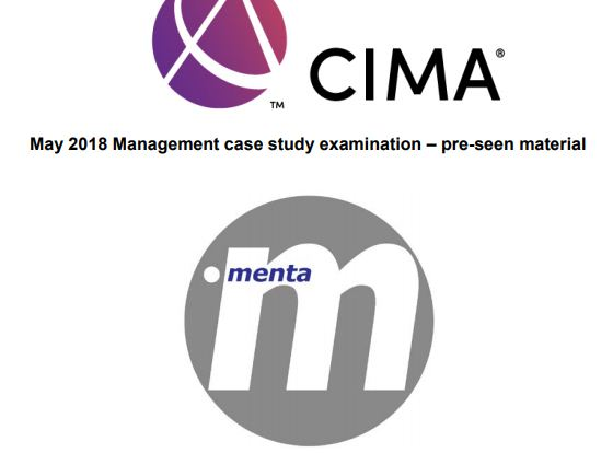 MCS May 2018 Pre-seen video analysis Menta  - CIMA Management Case Study