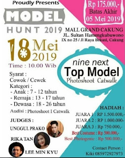 cara mengikuti mendaftar audisi model hunt 2019 nine next top model