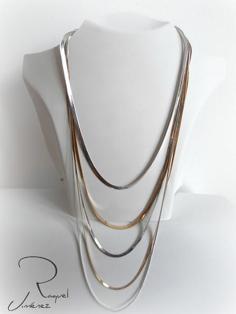 collar,cadena,plateado,dorado,