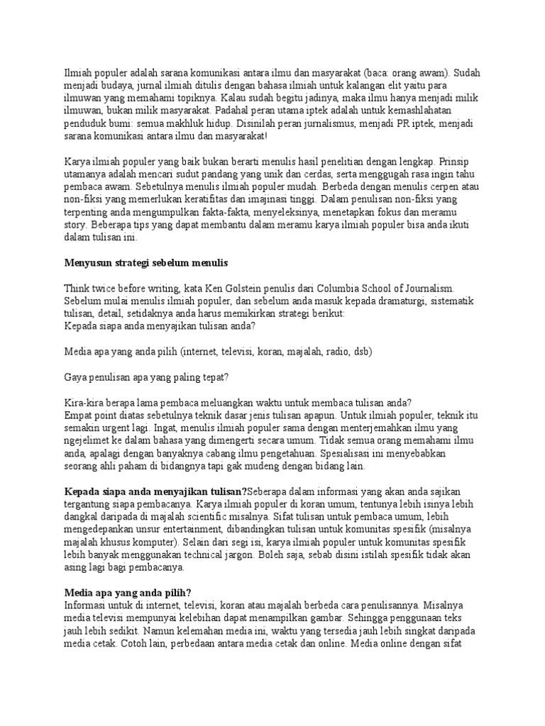 Contoh Karya Ilmiah Populer Tentang Kesehatan Pdf Ljmflnjl Info