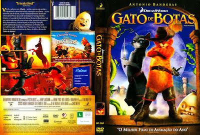 Filme Gato de Botas DVD Capa