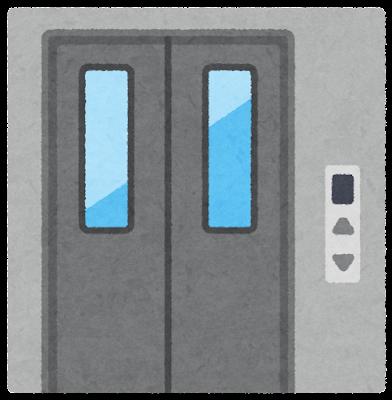 ドアが閉じたエレベーターのイラスト