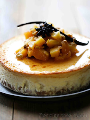 cheesecake , Philadelphia , coings , noisettes , dessert