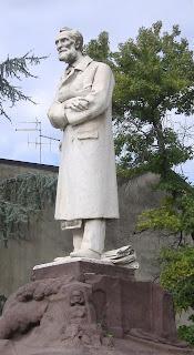 The statue of Paolo Gorini in  Piazza Ospedale in Lodi