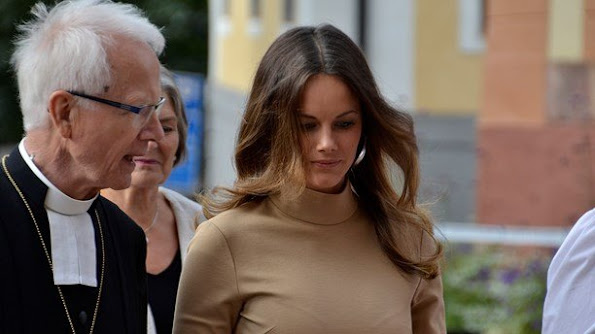 King Carl XVI Gustaf of Sweden, Prince Carl Philip and Princess Sofia of Sweden attended a service at Cathedral of Uppsala in Uppsala