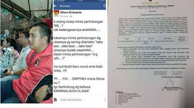 Hina Islam dan Ulama, Kepala Perawat RSKM Cilegon Wisnu Krisnanto Dipecat