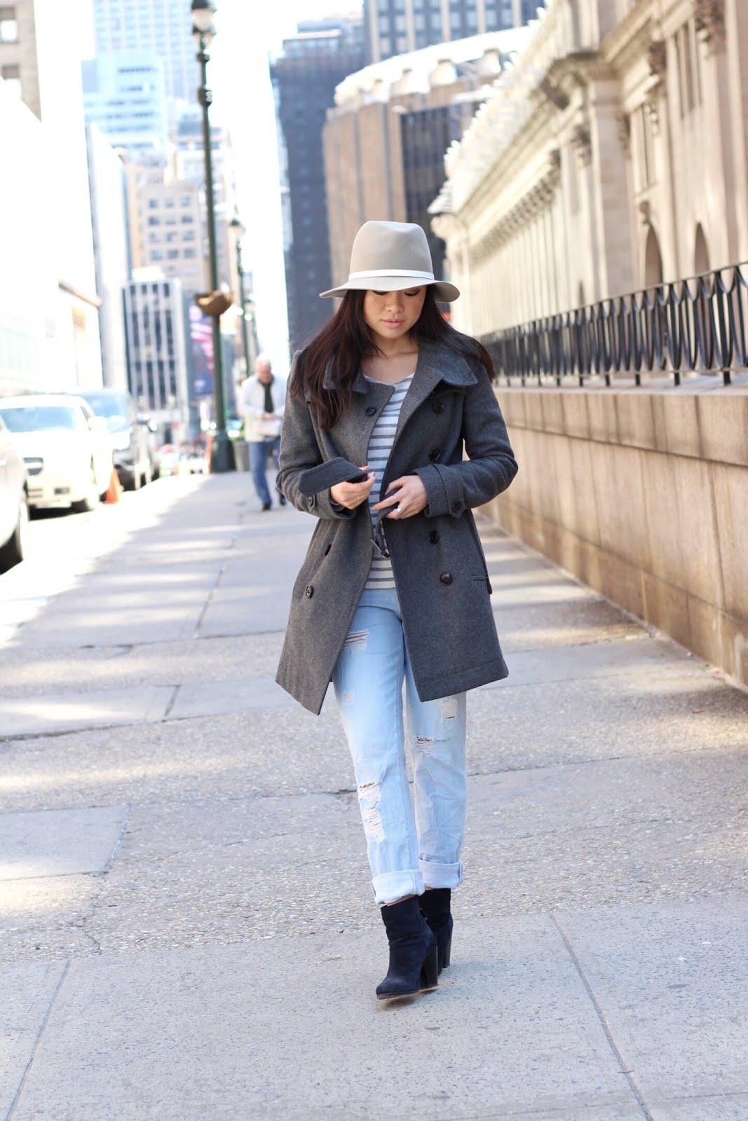 Rag & Bone fedora Paige boyfriend jeans newbury booties
