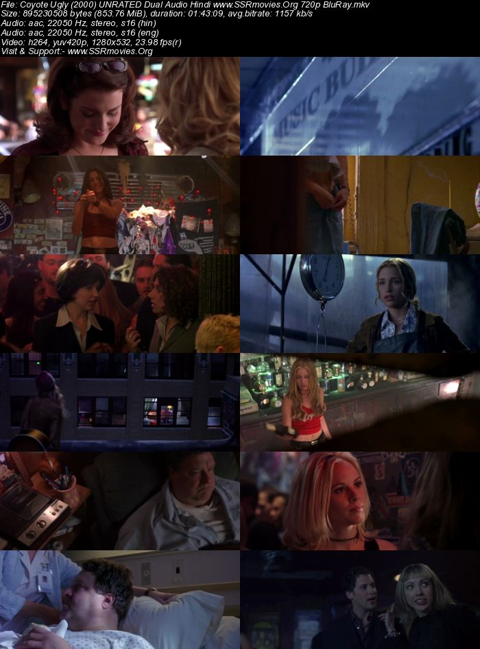 Coyote Ugly (2000) UNCRATEd Dual Audio Hindi 720p BluRay
