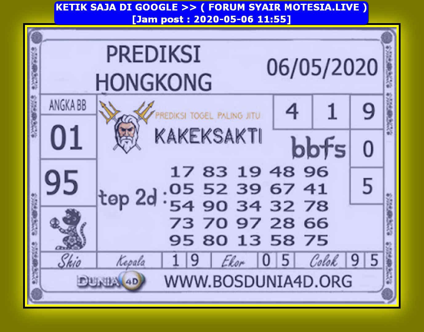 Kode syair Hongkong Rabu 6 Mei 2020 183