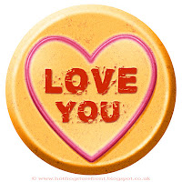 Love You text on Love Heart sweet free image for texting