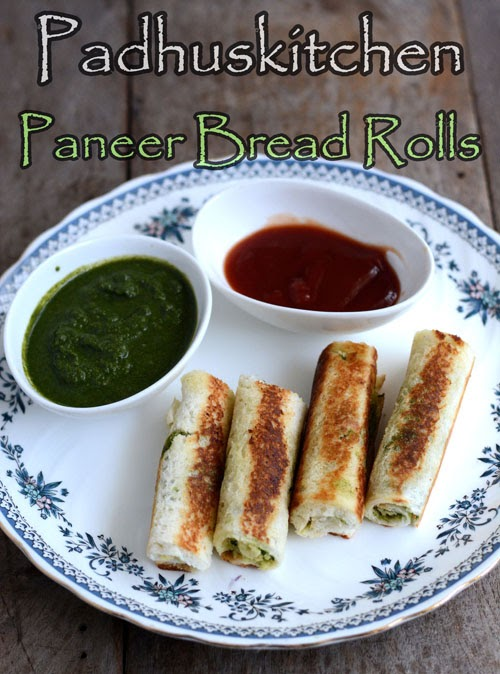 Bread Paneer Rolls Recipe