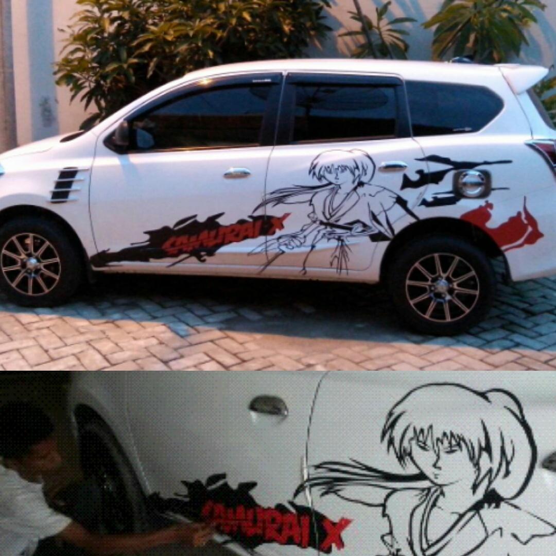 Cutting sticker mobil samurai x