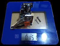 Desviador XT M8025 abrazadera alta - peso - Bitácora Vertical
