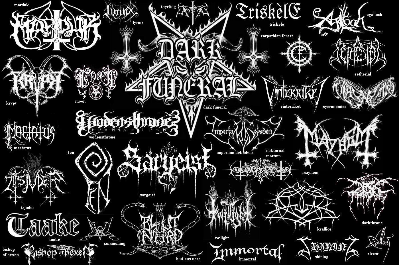 may the devil take us: Black Metal Logos