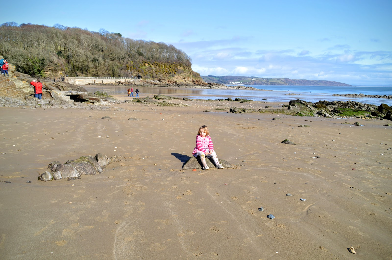 , Family Fun:  A Winter's Day on Saundersfoot Beach, Pembrokeshire