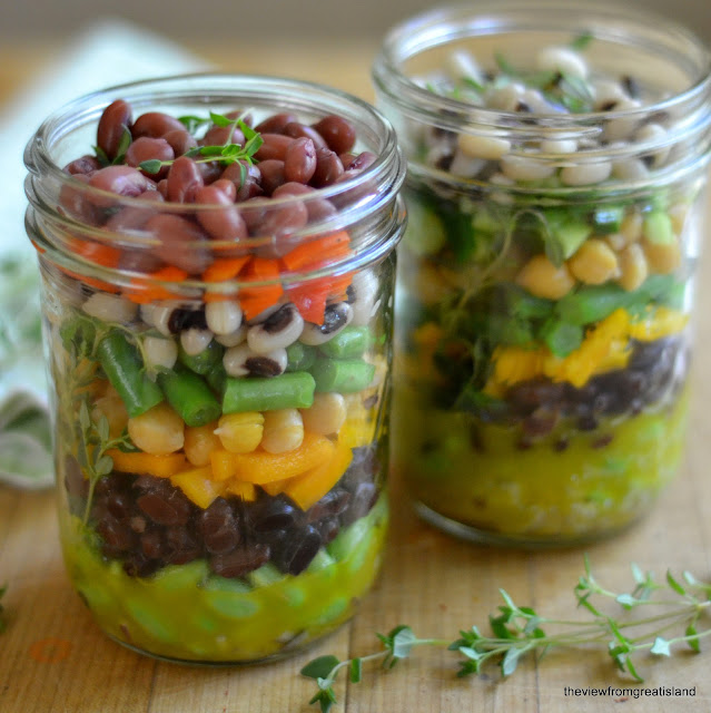 Minimal Monday: Layered 7-Bean Salad in a Jar
