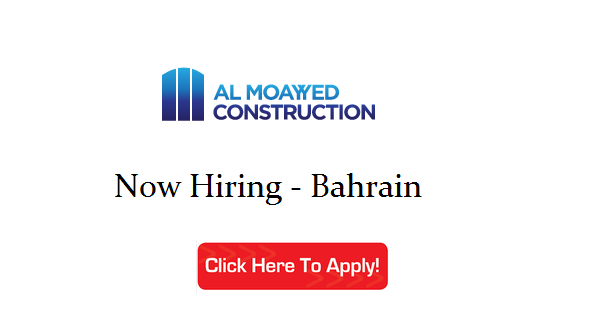 Almoayyed Construction Job Openings | Bahrain