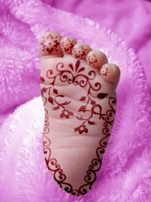 Arabic Mehndi Design For Kid