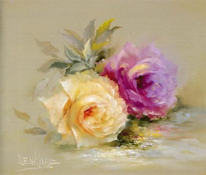 Цветочные картины. Gary Jenkins 5