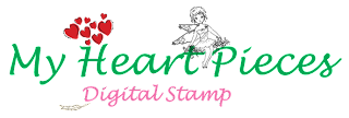 My Heart Pieces Digital Stamp