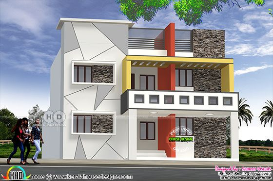 Modern style 6 bedroom house in Tamilnadu