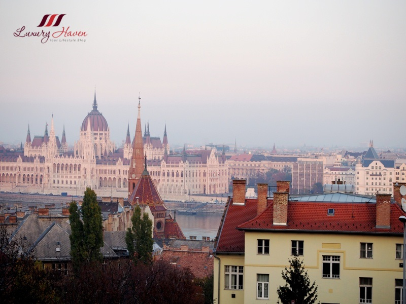 budapest castle hill fisherman bastion parliament house view