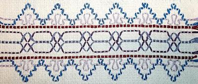 Swedish weaving sample Step 8