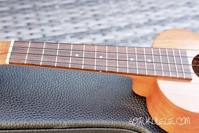 Kamaka HF-1 Standard Ukulele fingerboard