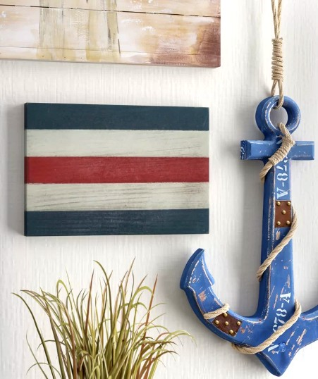 Letter Alphabet Maritime Signal Flag Wall Decor to Spell out a Word