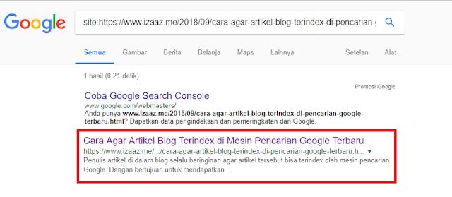 Cara Agar Artikel Blog Terindex di Mesin Pencarian Google Terbaru