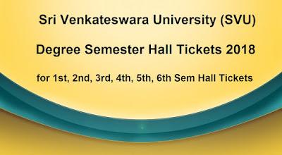 SVU Degree Semester Hall Tickets 2018 Download