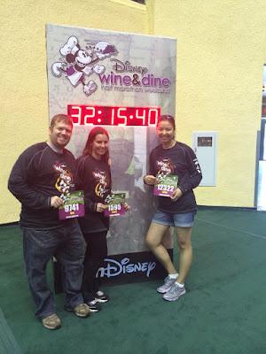 Disney Wine and Dine Half Marathon running