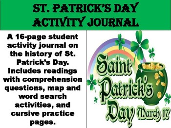 https://www.teacherspayteachers.com/Product/FREE-St-Patricks-Day-Activity-Journal-4318001
