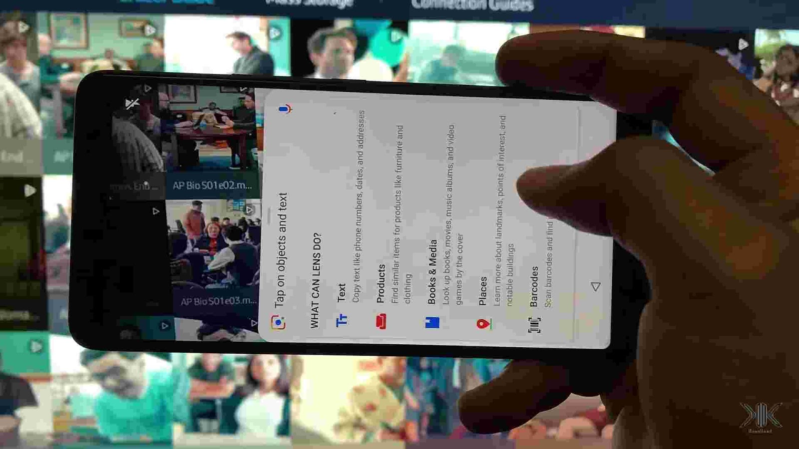 Google Lens text recognition and translator