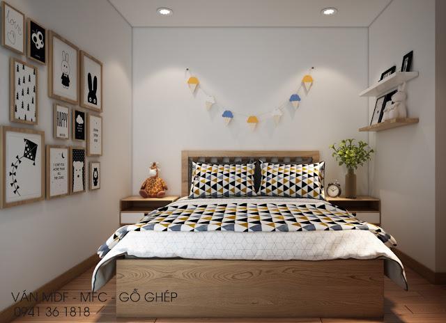 Phòng ngủ ấm áp kiểu scandi