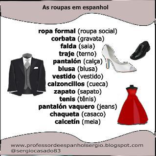 La ropa en portugués