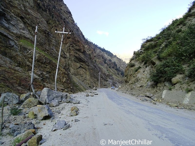 Land Slide Road, Himachal Pradesh