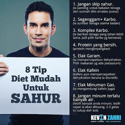 8 Tip Mudah Sahur Kevin Zahri