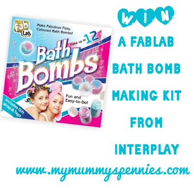 Win a FabLab Bathbomb Making Kit from Interplay