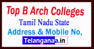 Top B.arch Colleges in Tamil Nadu